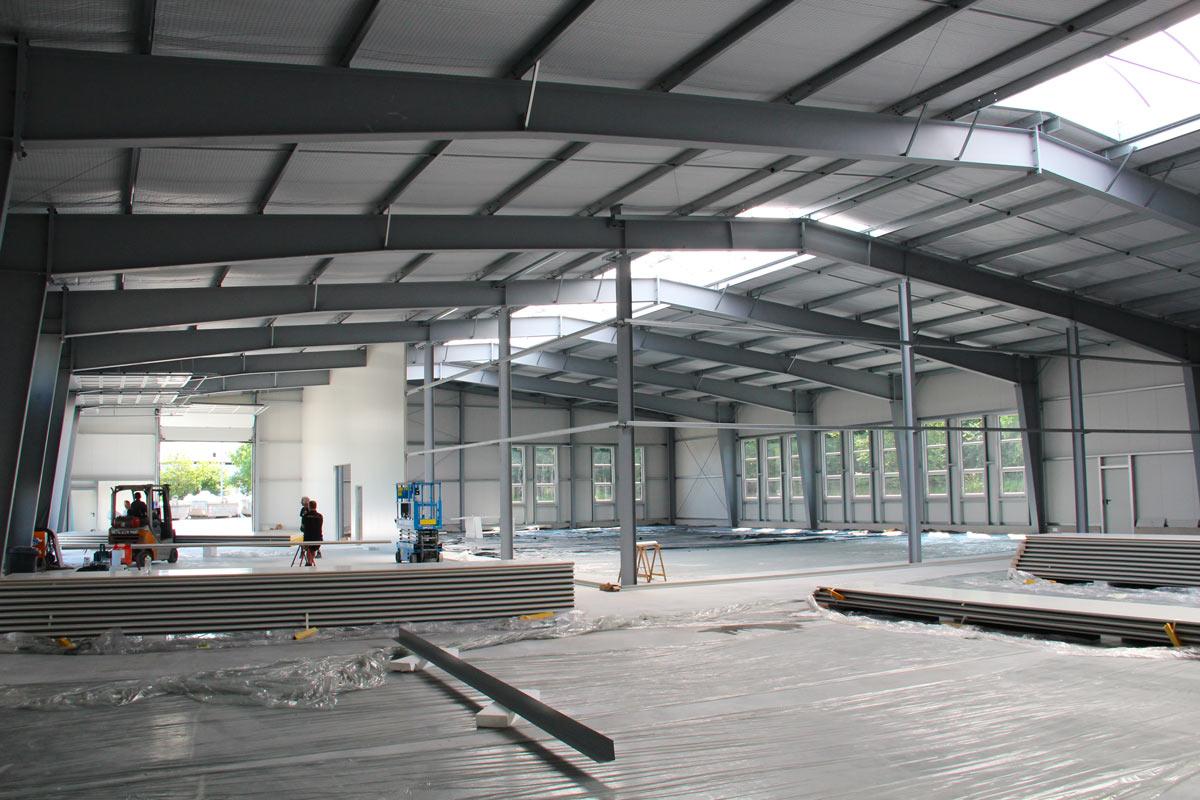 Bau Lagerhalle