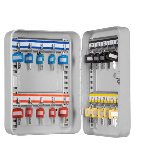 Schlüsselkassette SK-20 zur Aufbewahrung von bis zu 49 Schlüsseln.