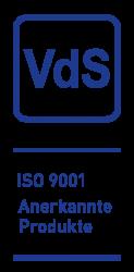 VdS ISO 9001 Anerkannte Produkte