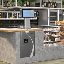 3D visualization of the interior of the grocery store.